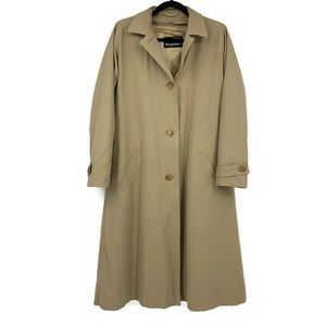 Halston For Misty Harbor Trench Coat 8 Full Length